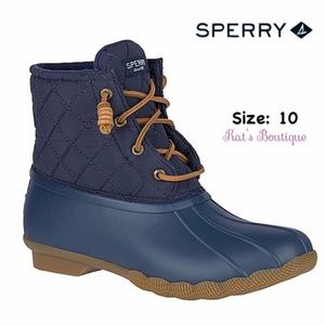 Sperry Women's Saltwater Quilted Duck Boots, 10